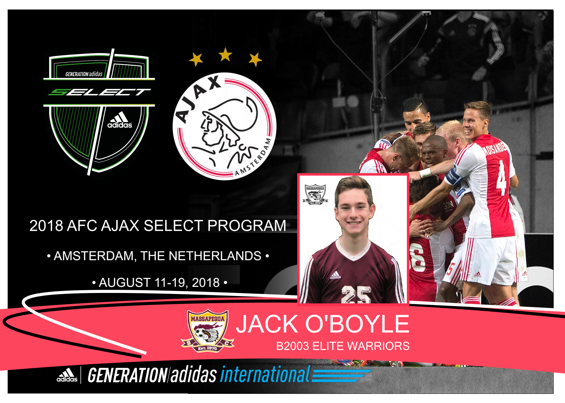 Jack O'Boyle joins Ajax as part of Generation Adidas Select Program!